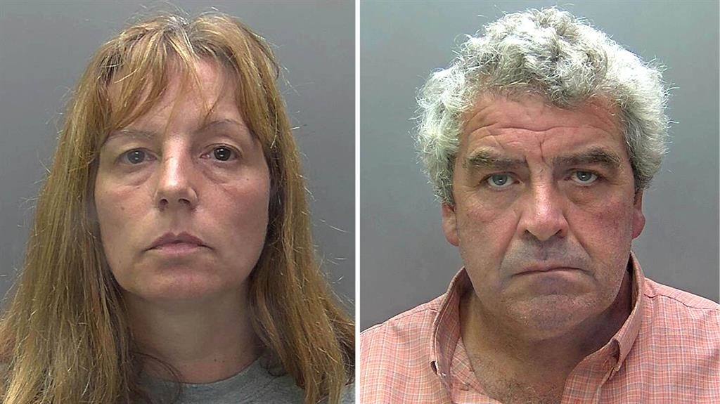 Shared violent fantasies: Angela Taylor and lover Paul Cannon PICTURES: HERTFORDSHIRE POLICE