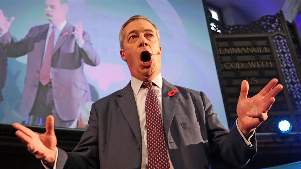 Brex-cited: Nigel Farage in Westminster PICTURE: PA