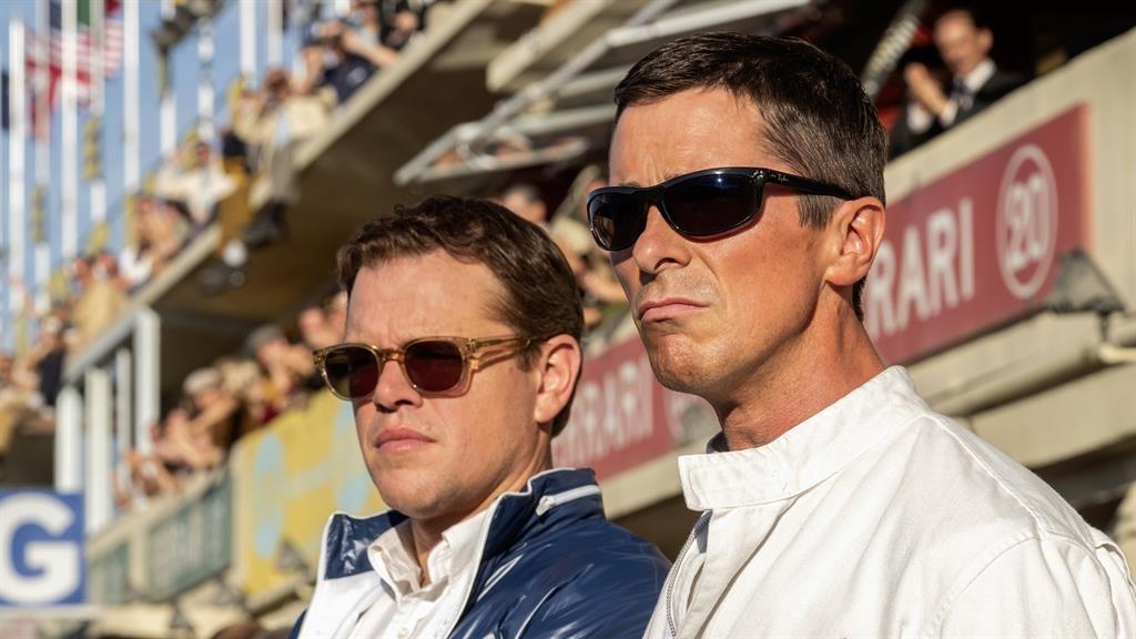 Kindred spirits: Matt Damon and Christian Bale change gear in Le Mans '66