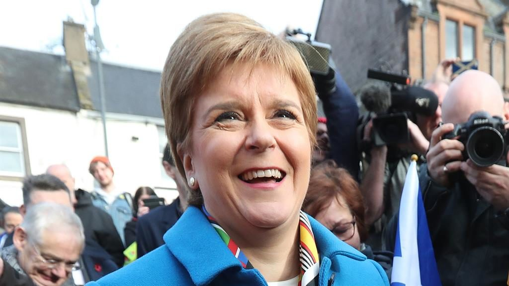 Back to the ballot: Nicola Sturgeon is keen to hold a second independence vote next year PICTURE: ANDREW MILLIGAN/PA