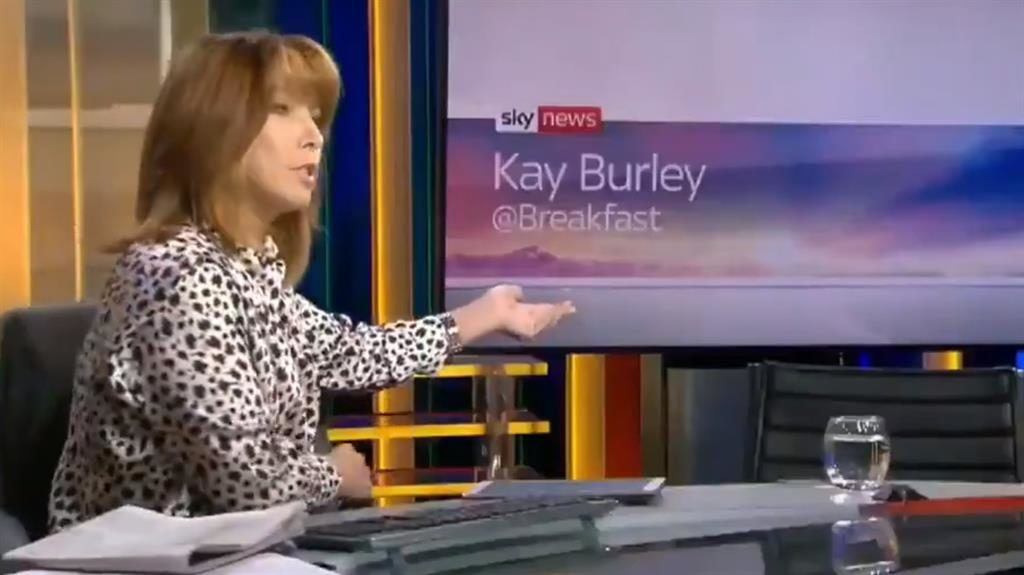 Chair is he? Kay Burley addresses James Cleverly's 'vacant seat' on Sky News show