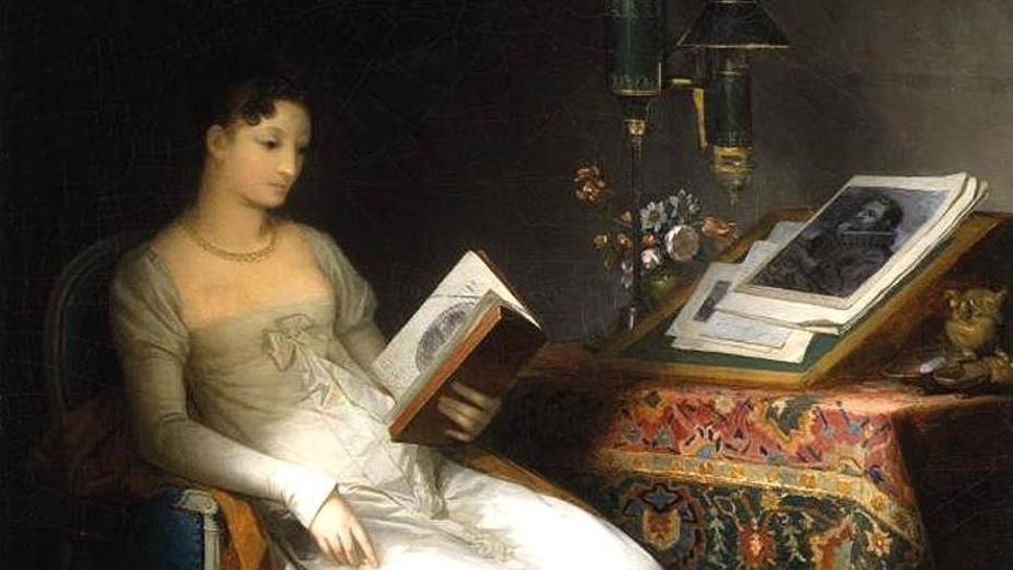 Lady Reading in an Interior (between 1795 and 1800) by Marguerite Gérard (1761–1837)