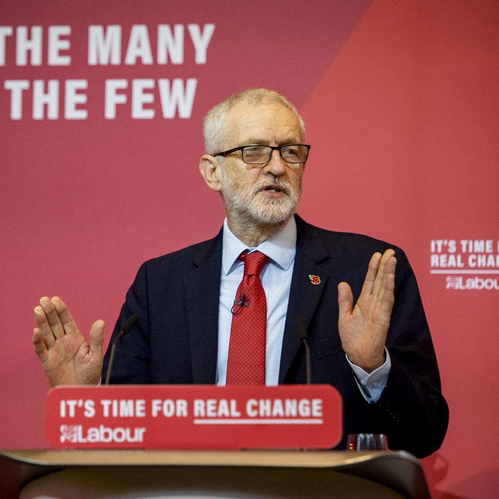 Under fire: Labour leader Jeremy Corbyn
