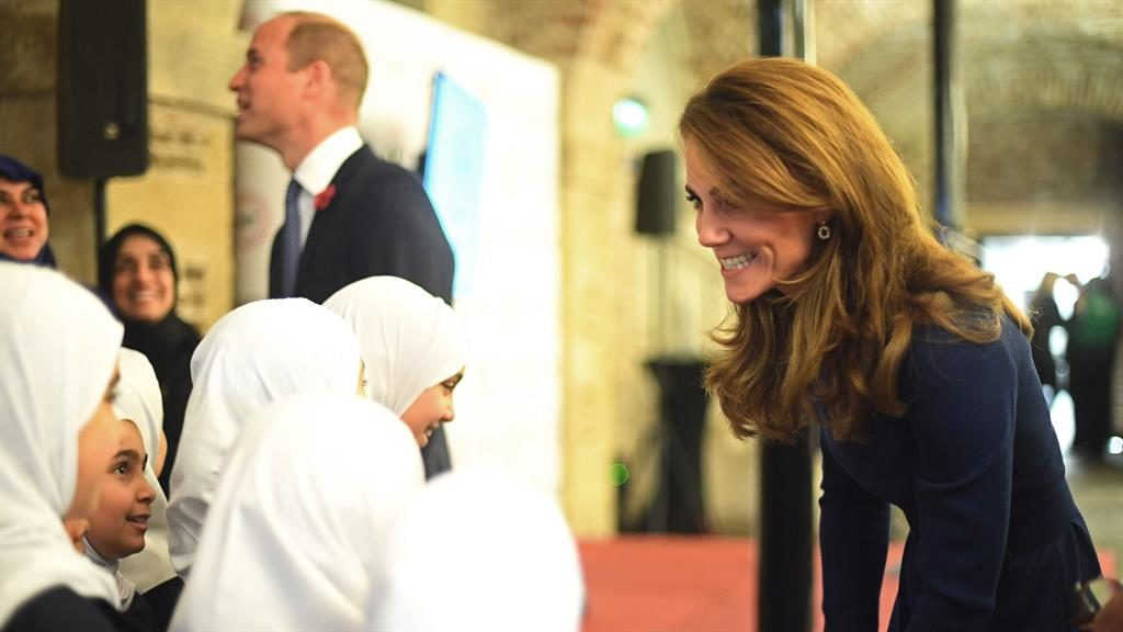 All smiles: The duchess at yesterday's launch PICTURE: VICTORIA JONES/PA