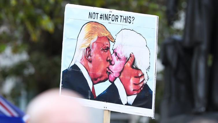 Loose lips: Both US leader Donald Trump and British PM Boris Johnson are deft at creating catchy metaphors PICTURES: PA