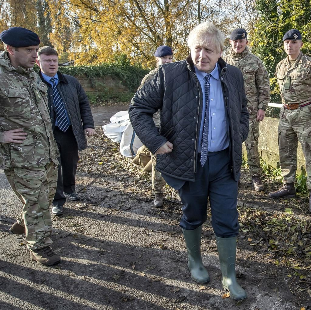 Sink or swim Boris Johnson visited flood-hit regions but was accused by residents of showing up too late