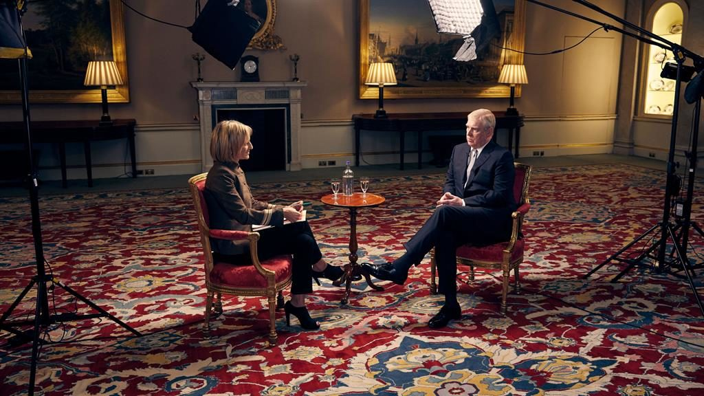 Scrutiny: Prince Andrew during the recent BBC interview PICTURE: PA