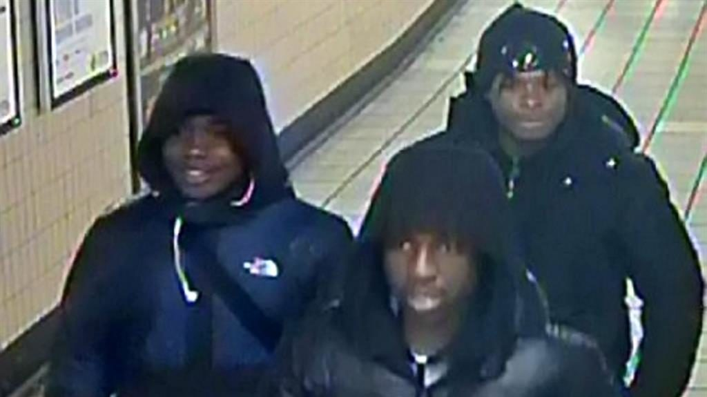 Wanted: CCTV of the men being sought by police PICTURES: SWNS