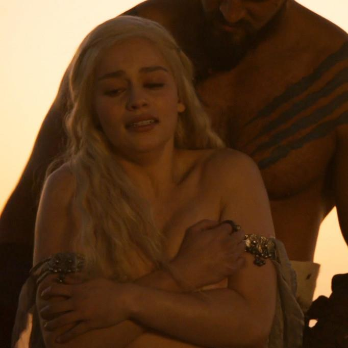 Speaking out: Emilia Clarke found some nude scenes in Game Of Thrones upsetting PICTURE: HBO