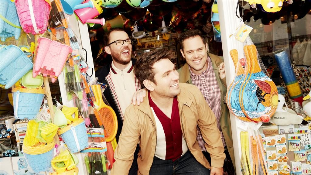 They're so lovely: Scouting For Girls, from left, Greg Churchouse, Roy Stride, Peter Ellard