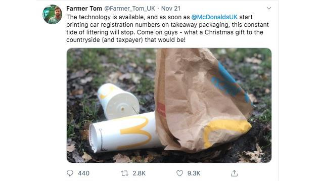 Went viral: Tweet from Tom Martin