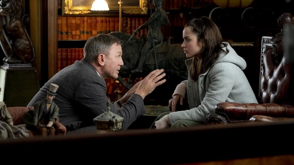 Puzzle: Benoit (Daniel Craig) and Marta (Ana de Armas) try to figure out the culprit in Knives Out