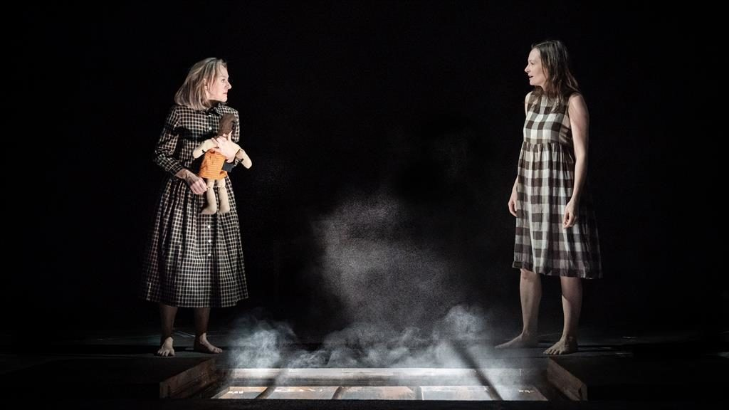 Love, loyalty and loathing: Niamh Cusack (left) is Lenu; Catherine McCormack plays Lila PICTURE: MARC BRENNER