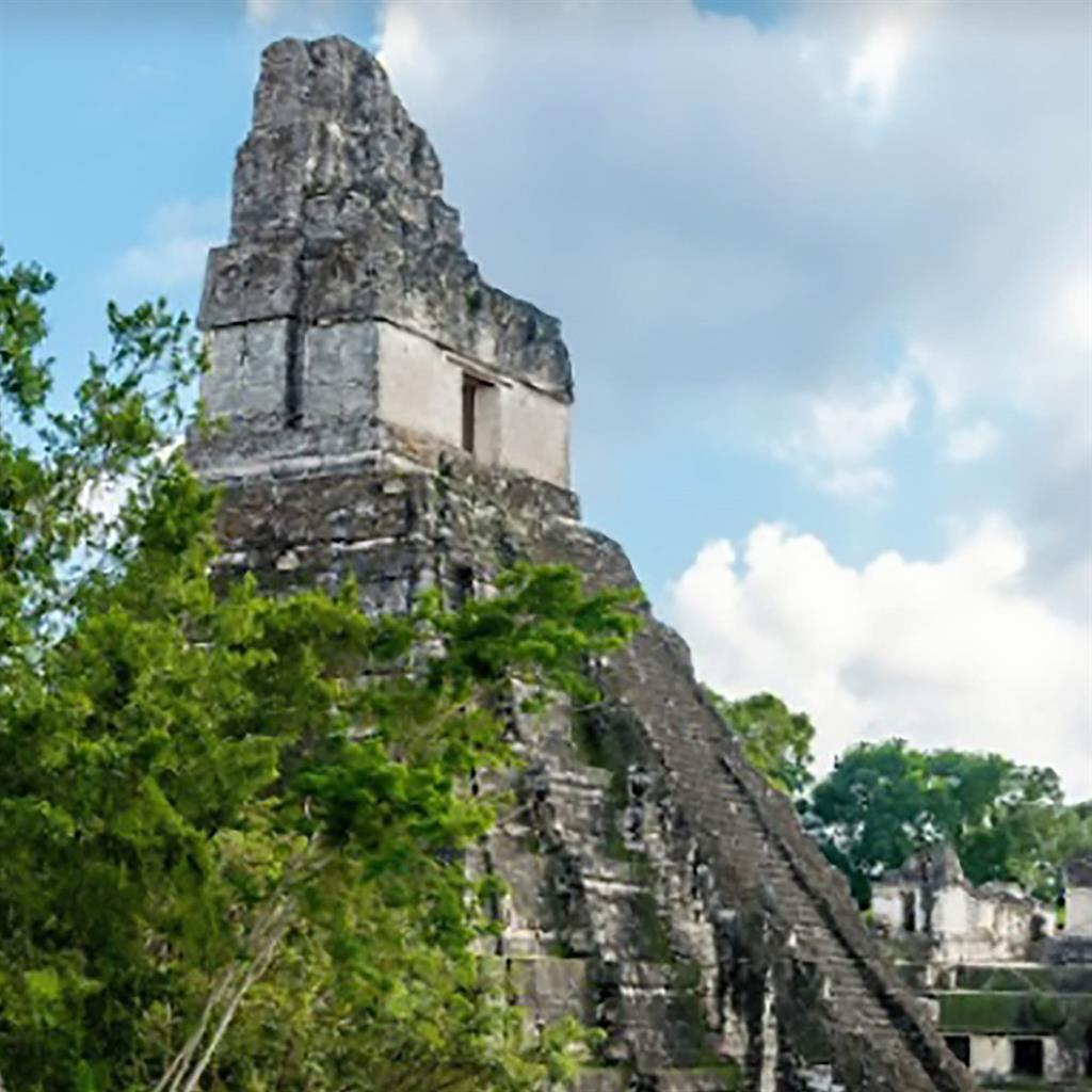 Ancient: Tikal Temple II in Guatemala has been painstakingly restored PICTURE: CEN
