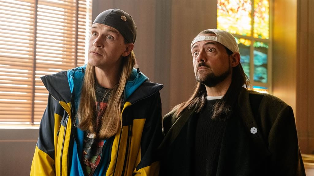 Back with a bong: Jason Mewes (left), and Kevin Smith (right), return as slacker stoners in this rehash of Jay and Silent Bob Kyle kaplan