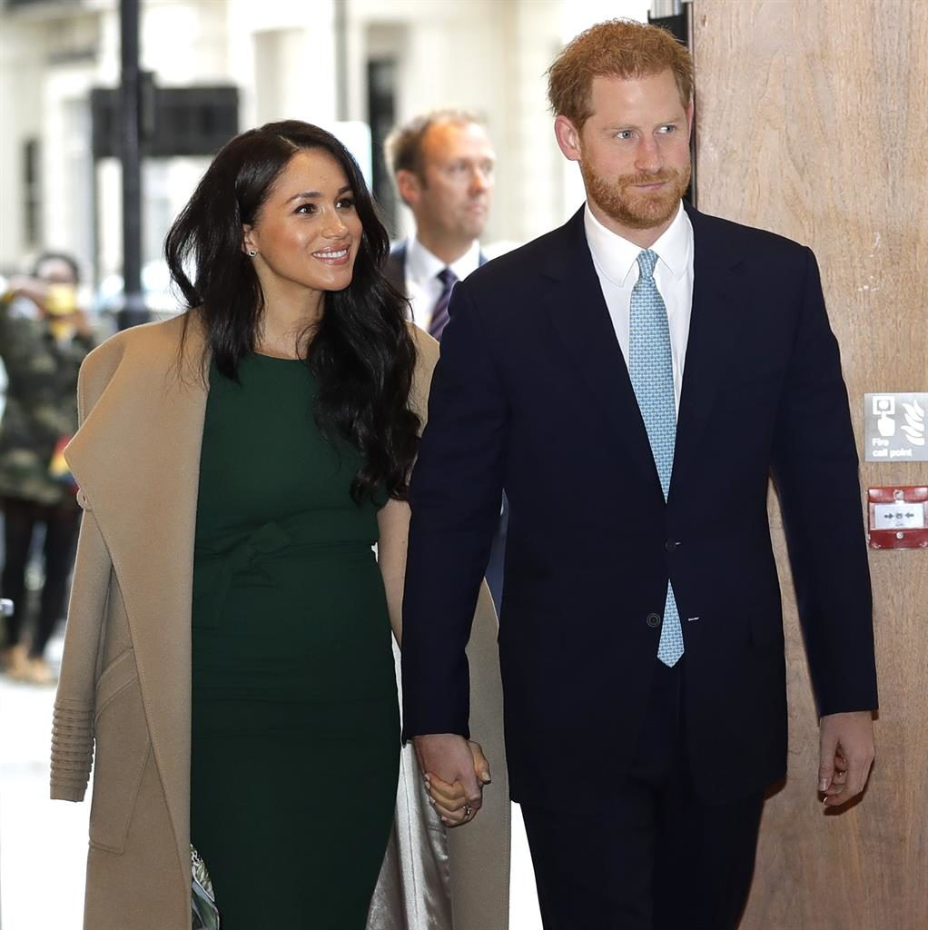 Wings clipped? Harry and Meghan were criticised for private jet trips PICTURE: AP