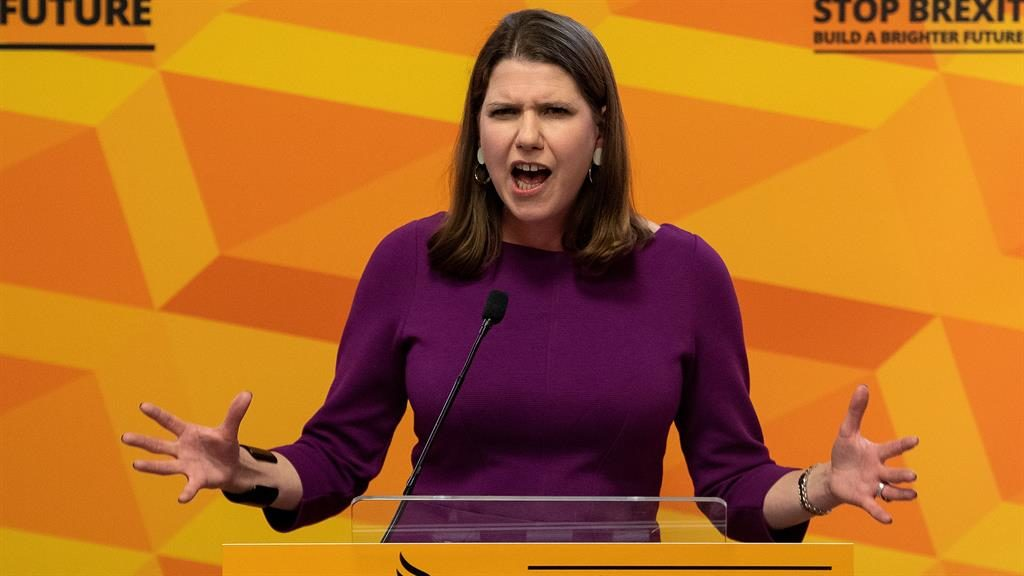 Attack: Jo Swinson speaking out PICTURE: GETTY