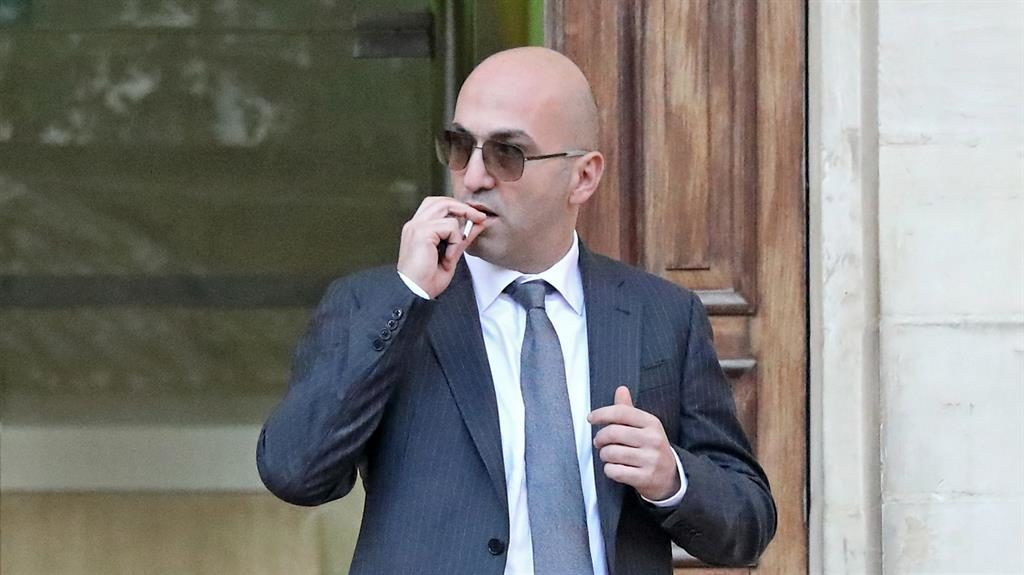 Charged: Yorgen Fenech outside court PICTURE: EPA