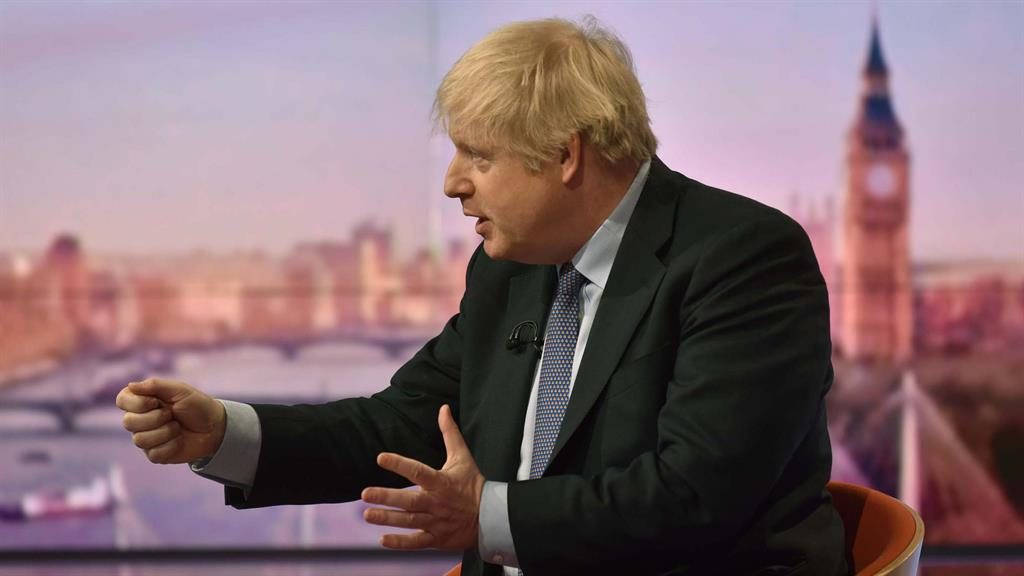 Pointing the finger: Boris Johnson on The Andrew Marr Show yesterday PICTURE: BBC/PA