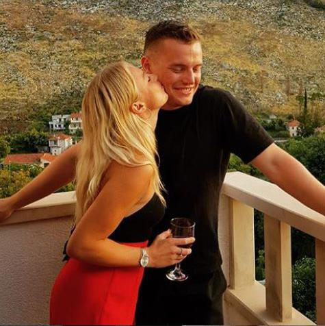 'Lived his principles': Jack Merritt with girlfriend Leanne O'Brien PICTURE: FACEBOOK