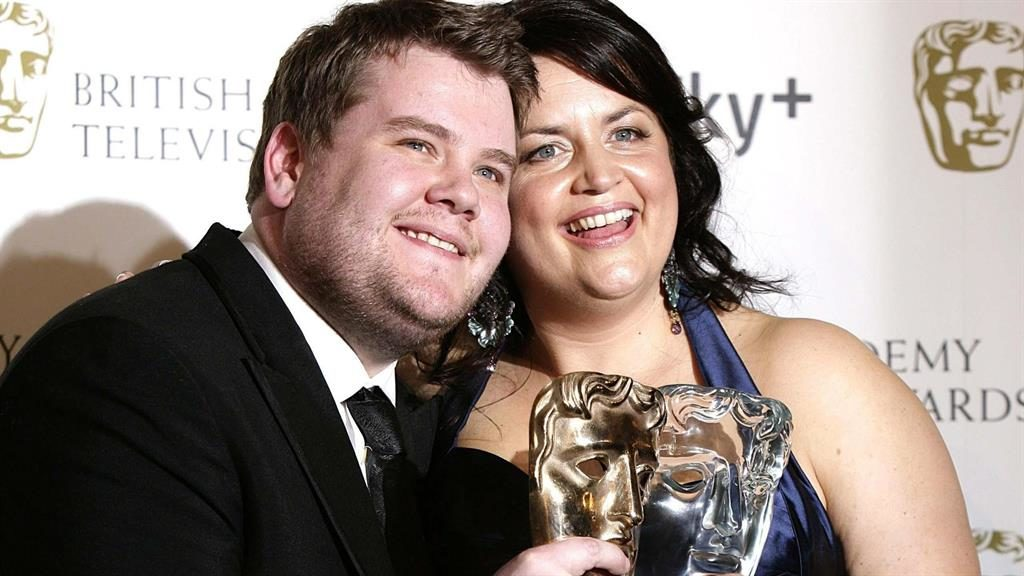 Old pals: James and Ruth picking up Programme of The Year in 2007 PICTURE: PA