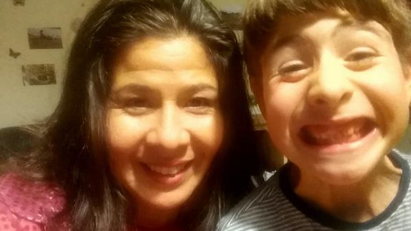 Back with mum: Karol and her son Angelo have been reunited after nine months PICTURES: SWNS