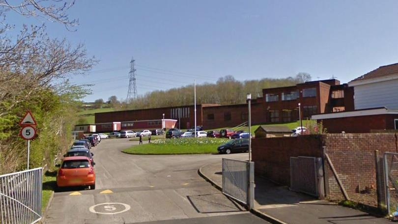 Closed: Ysgol Bryn Castell School, where a staff member is reported to have been struck with a chair