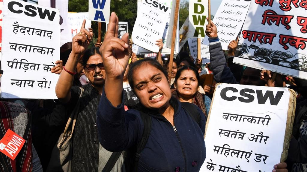 Not safe any more: Women demonstrate in New Delhi PICTURE: GETTY