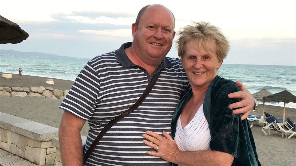 Devastated: Andrew Roberts with partner Jeanette Newman. He is calling for a change in the law for older drivers after she was hit PICTURE: SWNS
