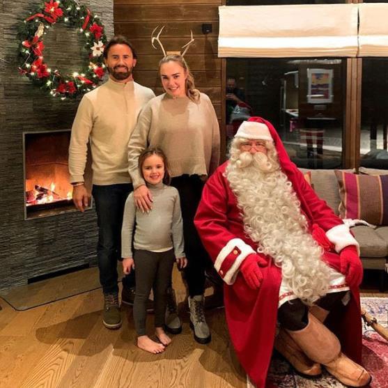 Santa visit: Tamara, Jay and Sophia, five