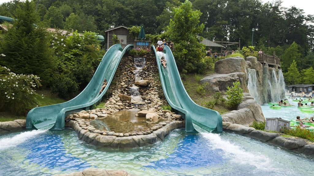 Islands in the stream: Dollywood, a kitsch theme park devoted to all things Dolly Parton (below)