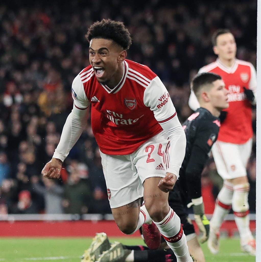 Reiss Nelson on target as Arsenal see off Leeds while Aubameyang rubbishes exit talk			 				     by John Payne    Published