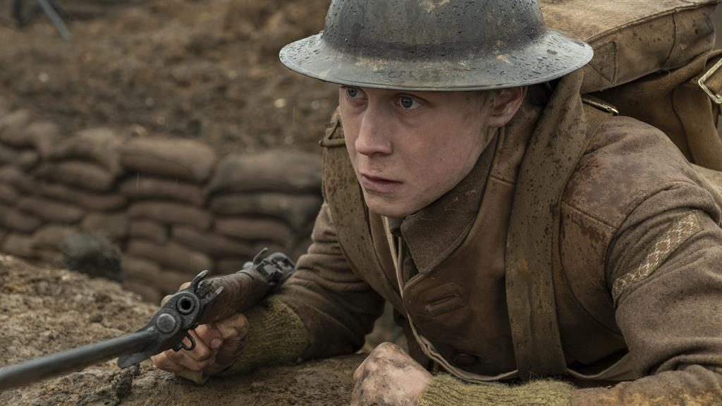 Horrors of war: George MacKay as Schofield faces a hellish mission in 1917