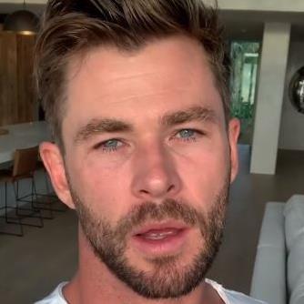 Emotional: Chris Hemsworth