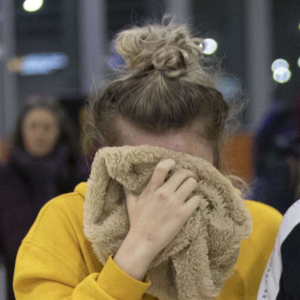 Ordeal: The 19-year-old Brit PICTURE: AP
