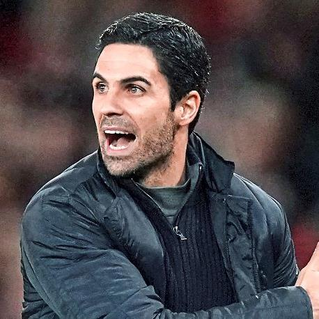 In with a shout: Arteta made his displeasure clear to his players