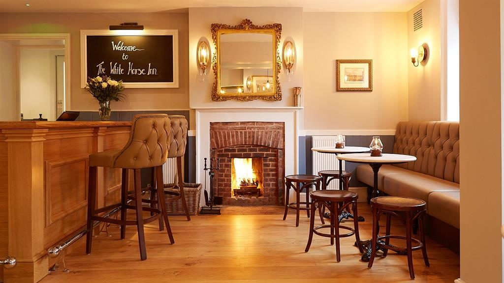 Cheers! Sample the local brews in the White Horse's warm and inviting bar