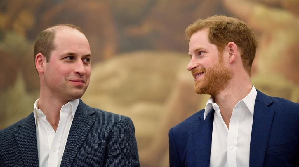 Denials: William and Harry pictured together in April 2018 PICTURE: GETTY