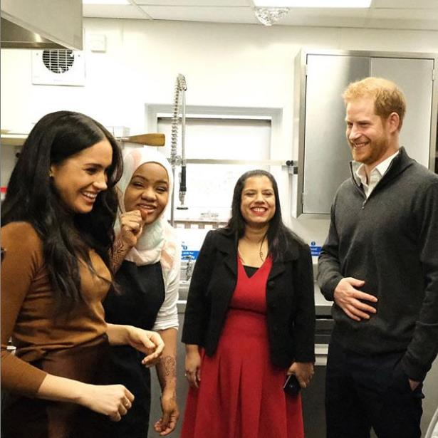 Supporters: Meghan and Harry on a visit last week to a community kitchen set up after the Grenfell Tower disaster