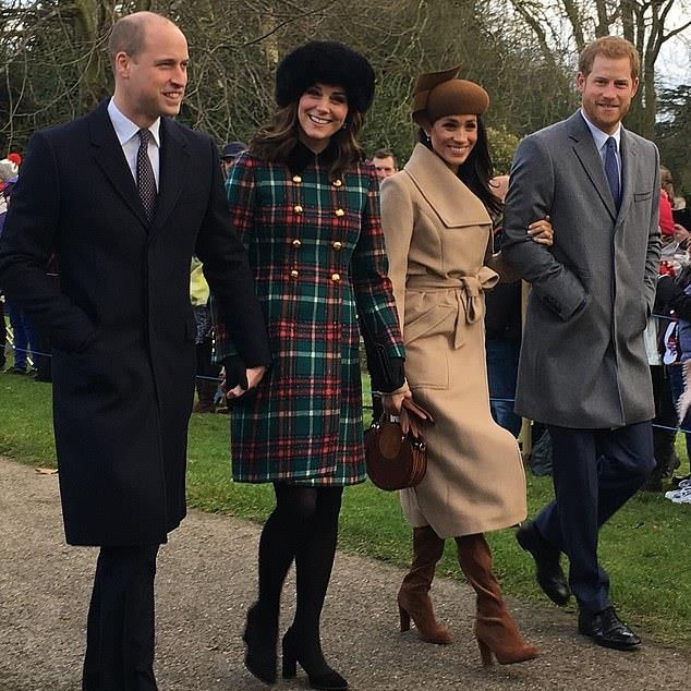 A parting of the ways: The Cambridges, left, and Sussexes will have different roles within the family