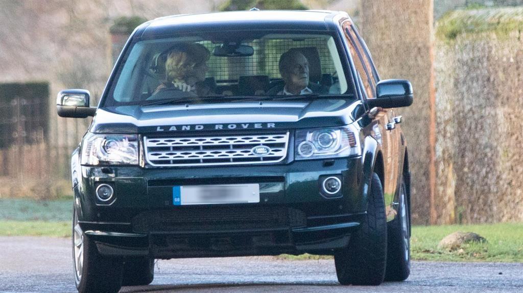 He's off: The Duke of Edinburgh is driven away from Sandringham before yesterday's summit of senior royals PICTURE: BAV MEDIA ONLINE