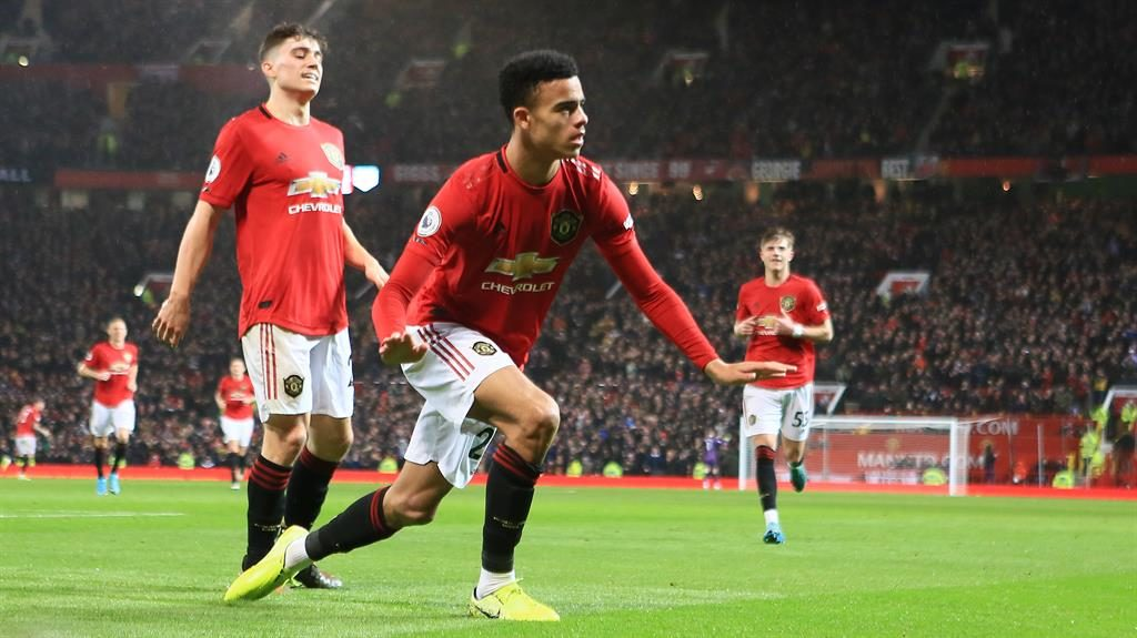 Lion in wait: Greenwood celebrates his goal in United's 4-0 win over Norwich PICTURE: GETTY