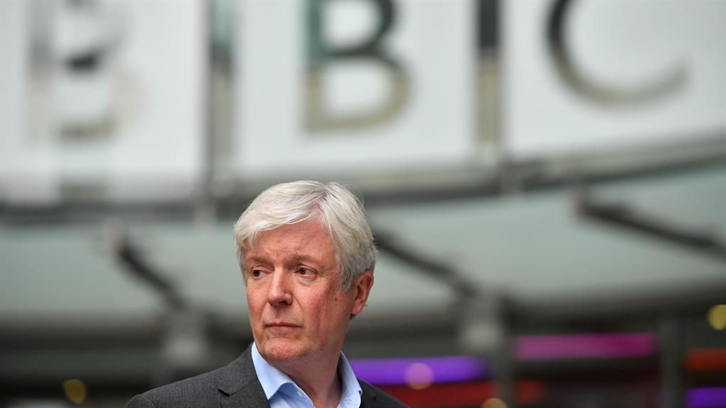 'Hard decision': Lord Hall outside Broadcasting House PICTURES: GETTY/PA/MATT WRITTLE