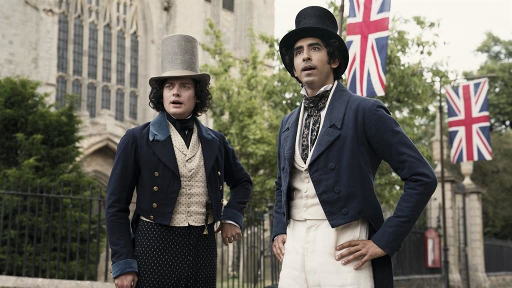 Gold dust: Dev Patel as Copperfield with Aneurin Barnard as James Steerforth