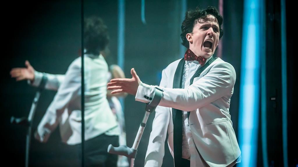 Rave reviews: Daniel, above and below, plays Richard III as a schoolboy in Teenage Dick
