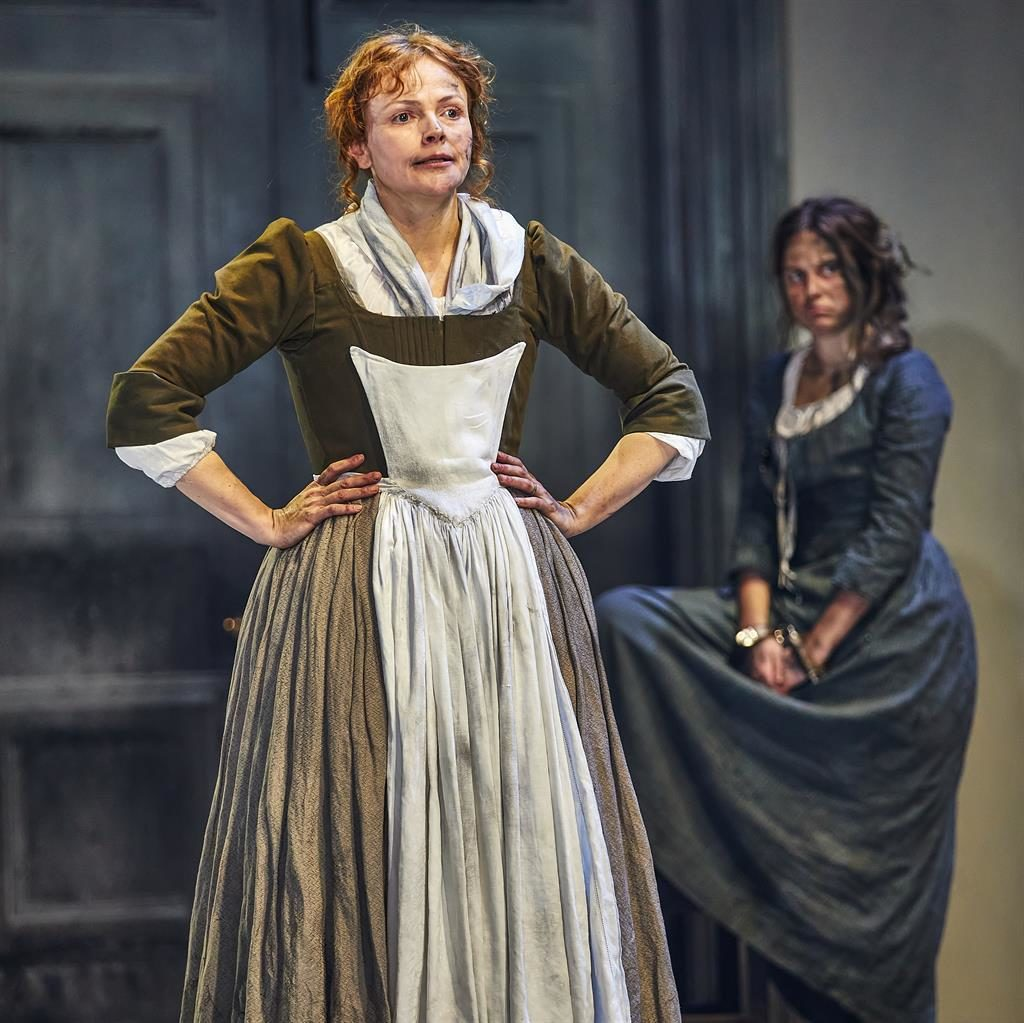 Compelling: Maxine Peake plays a strong-willed midwife in Lucy Kirkwood's drama PICTURE: BRINKHOFF-MOEGENBURG