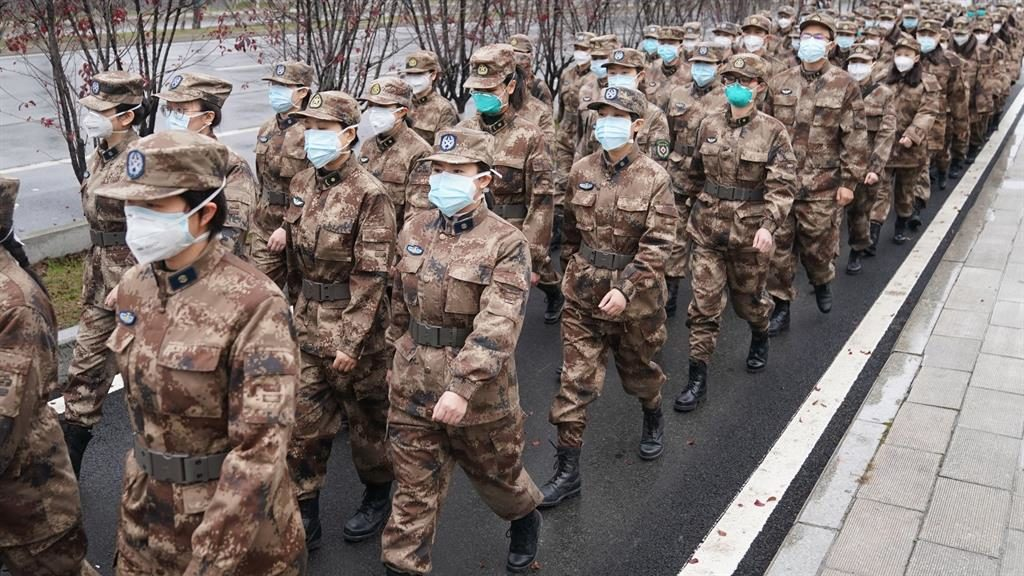 March: Medics in Wuhan PICTURE: ALAMY