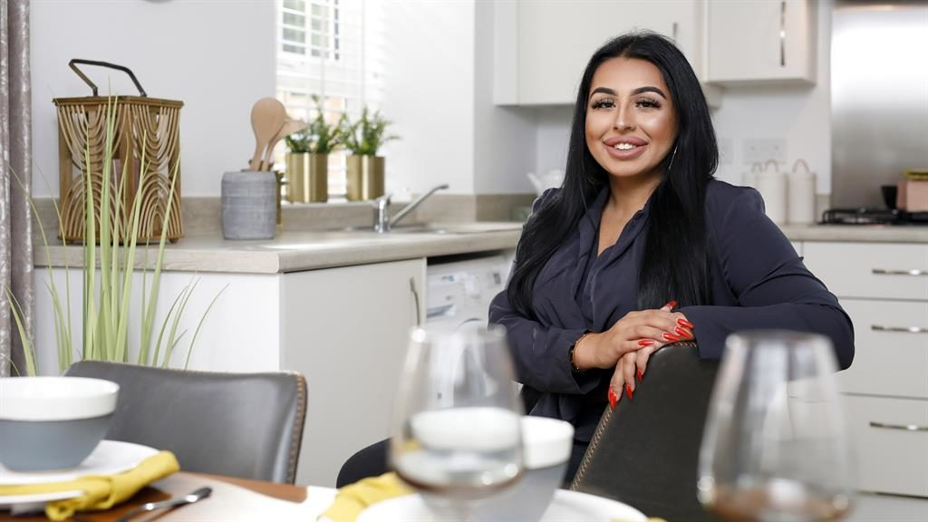 Proud owner: Yasmine Majeed bagged a three-bed home aged 21