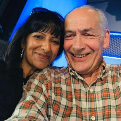 'I adore him': ITV's Ranvir Singh with Alastair Stewart. She told Good Morning Britain that he was not racist
