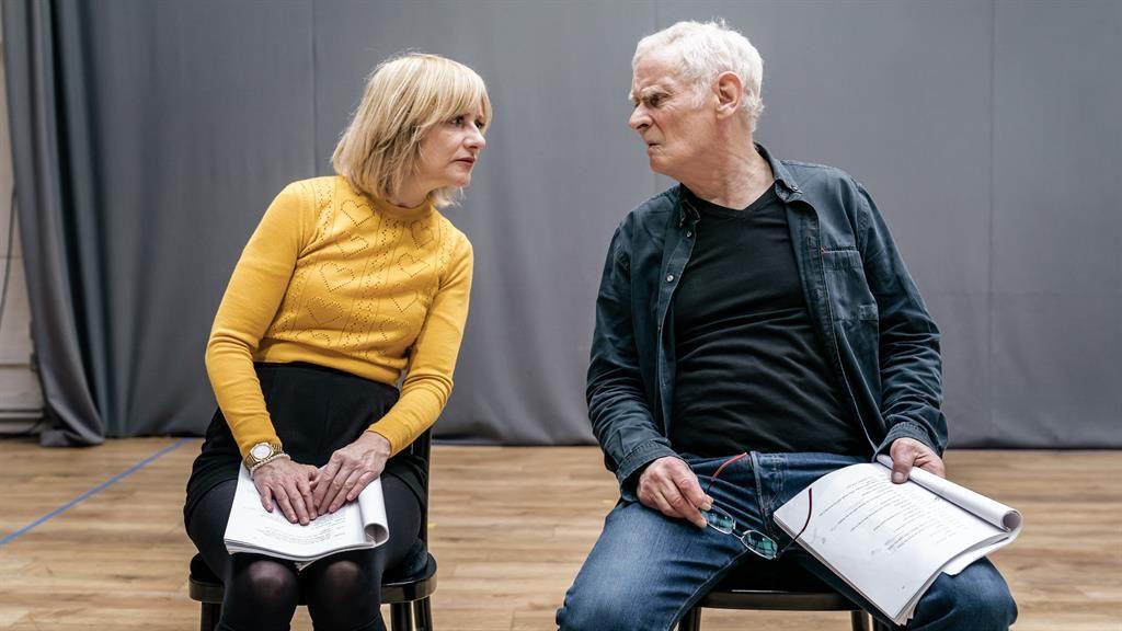 Fun and games: Jane Horrocks and Karl Johnson, who plays Nagg